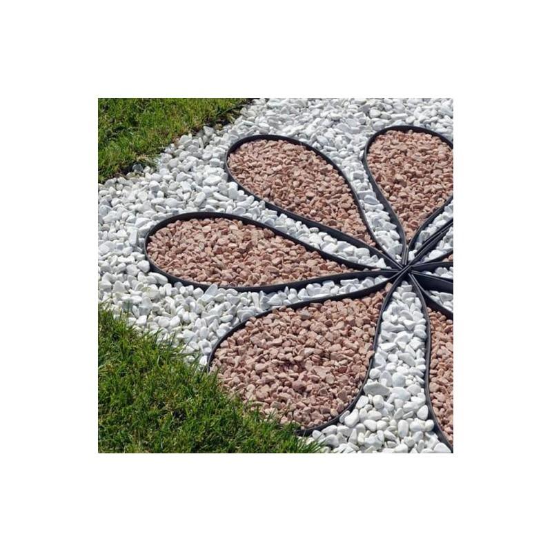 Kit lacogreen da 15 metri bordura per aiuole faregiardini for Bordura giardino