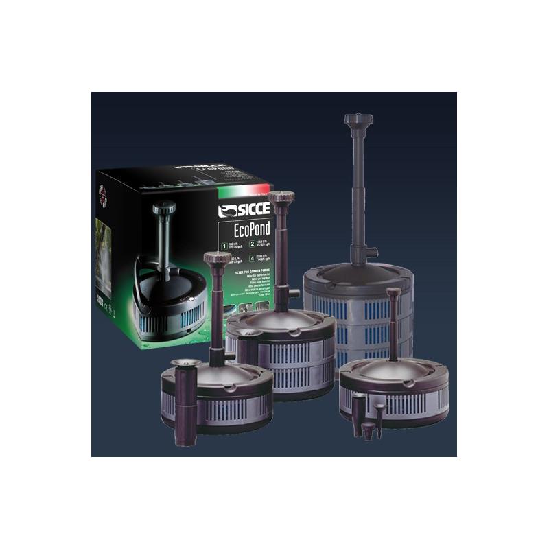 Sicce eco pond pompe per laghetti con filtro faregiardini for Pompa x laghetto con filtro