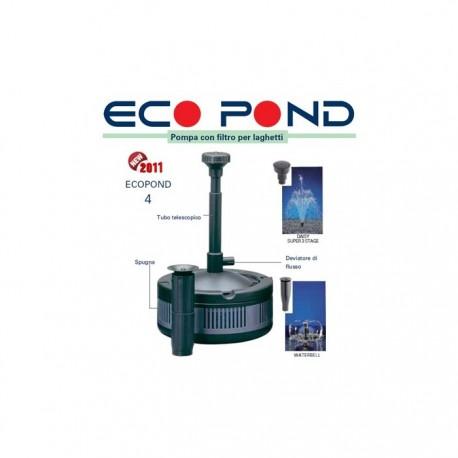 Sicce eco pond 4 pompa con filtro per laghetti for Pompa x laghetto con filtro