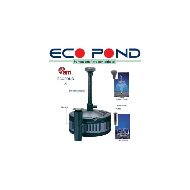 Sicce eco pond pompe per laghetti con filtro faregiardini for Pompa con filtro per laghetto